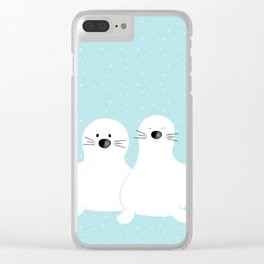 Baby seals Clear iPhone Case
