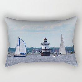 Sailing By the Lighthouse Rectangular Pillow