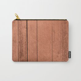 Rose gold antique wood Carry-All Pouch