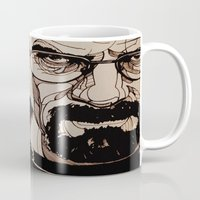 walter white Mugs featuring Walter White by bubbsyforever
