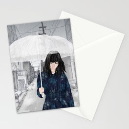 In The Rain Stationery Cards
