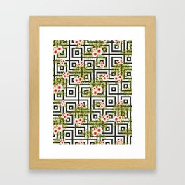 Geometric Jungle #society6 #decor #buyart Framed Art Print