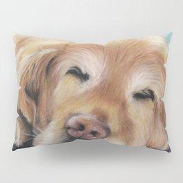 Sweet Sleeping Golden Retriever Puppy by annmariescreations Pillow Sham