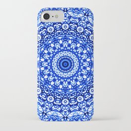 Blue Mandala Mehndi Style G403 iPhone Case