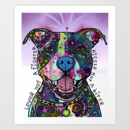 Colourful Pit Bulls, pit bull gift Art Print