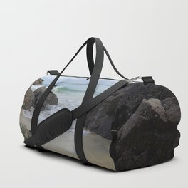 Turquoise Waves Crashing on Porthmeor Rocks Duffle Bag