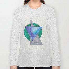 180818 Geometrical Watercolour 3 Long Sleeve T-shirt