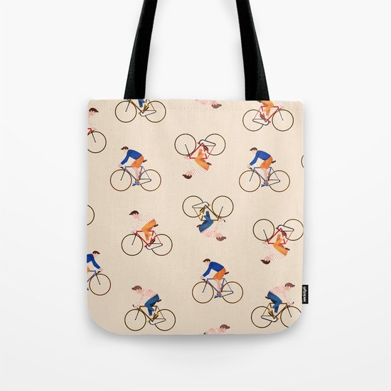 Bike Pattern Tote Bag