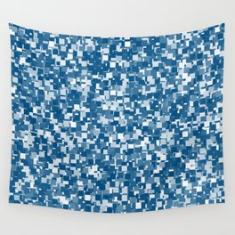 Snorkel Blue Pixels Wall Tapestry