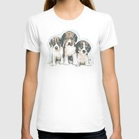 puppies T-shirts featuring Puppies 1 by JennFolds5 * Jennifer Delamar-Goss