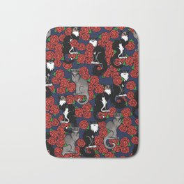 Cats and Roses Le Chat Noir Calico Bath Mat