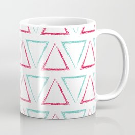 Peaks - Teal & Red #412 Coffee Mug