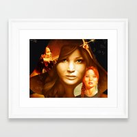 mockingjay Framed Art Prints featuring Mockingjay by drawingsbyignacio