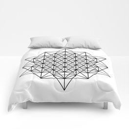Star tetrahedron, sacred geometry, void theory Comforters