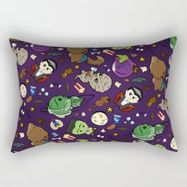Baby Monster Mash Dark Purple Rectangular Pillow
