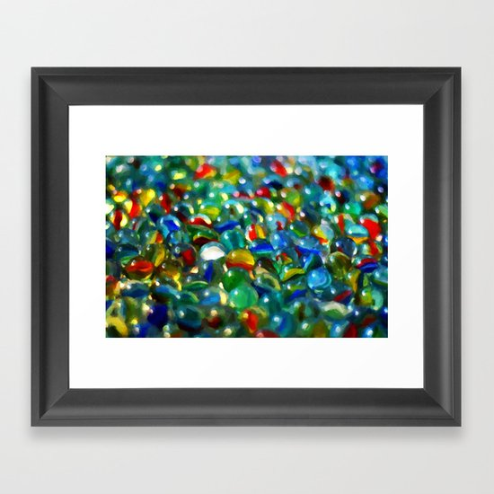 Marbles... Lost & Found - Painting Style Framed Art Print