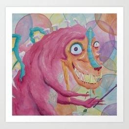 Monster Party 2! Art Print