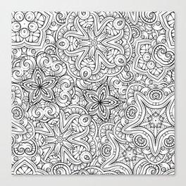 Mandalas pattern Canvas Print