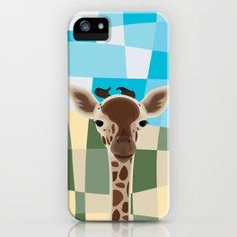 Wild Giraffe Baby on the grassland iPhone Case