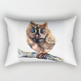 WATERCOLOR BABY OWL WOODLAND ANIMALS NURSERY COLLECTION Rectangular Pillow