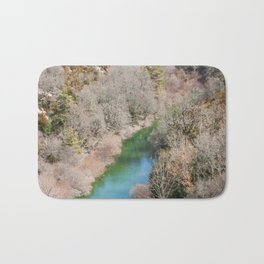 Blue river in French mountains Bath Mat