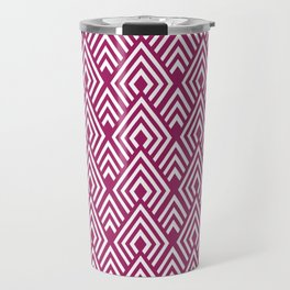 Marsala Diamond Pattern Travel Mug