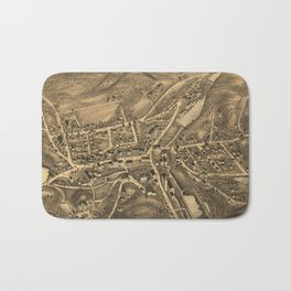 Vintage Map of Stafford Springs CT (1878) Bath Mat