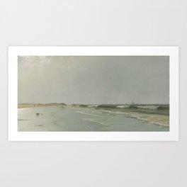 alfred-thompson-bricher-american-1837-1908-beach-at-little-boars-head-new-hampshire Art Print
