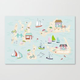 Summer On The Islands Canvas Print