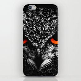Fire eyes owl iPhone Skin