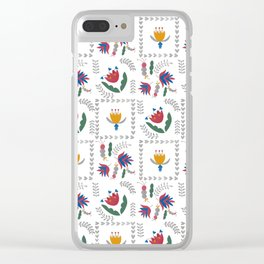 Heart of Silver – Motif – Blue Bell – Scandinavian Folk Art Clear iPhone Case