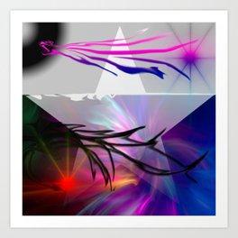 Brush Abstract Art Print