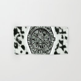 Cowhide Background Diamond Watch Hand & Bath Towel