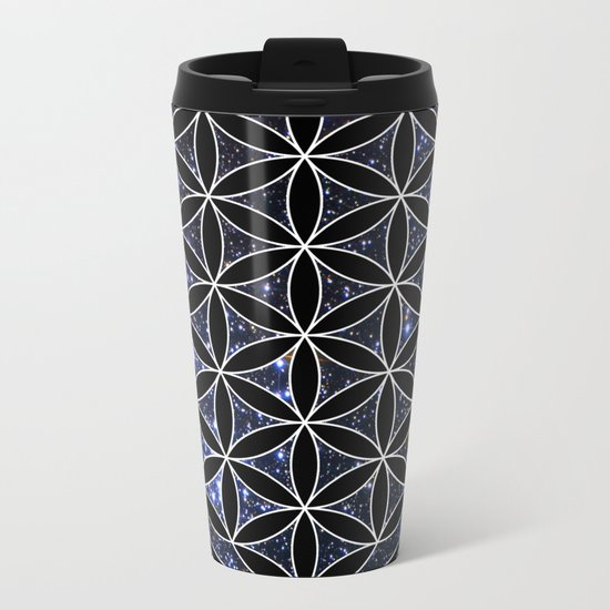 Flower of life in the space Metal Travel Mug