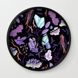 Crystals and stones Wall Clock