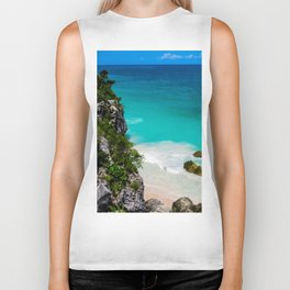 Beaches of Tulum Mexico Biker Tank