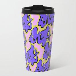 Stay Graffiti Pattern - Purple Groove Travel Mug