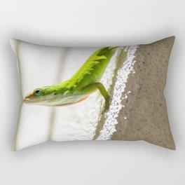 Basking Anole Rectangular Pillow
