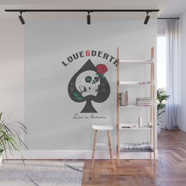 Love and death Skull | Spades Wall Mural