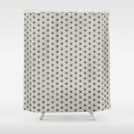 Flower of Life Print - Black/Cream Shower Curtain