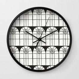 Window Pattern Wall Clock