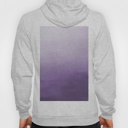 Inspired by Pantone Chive Blossom Purple 18-3634 Watercolor Abstract Art Hoody