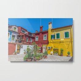 Burano courtyard Metal Print