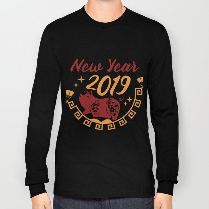 Fan Piglet Piggy Bridge Chinese New Year Gift Long Sleeve T-shirt