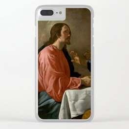 """Diego Velázquez """"The Supper at Emmaus"""" Clear iPhone Case"""