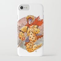 kit king iPhone & iPod Cases featuring Monkey King by Kit Seaton