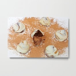 White Chocolate Truffels Metal Print