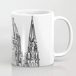 """"""" Travel Collection """" - Budapest Print With Grey Background Coffee Mug"""