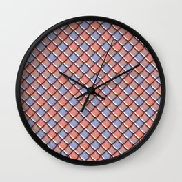 Berry Dragon Scales Wall Clock