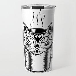 Coffee Cat Travel Mug